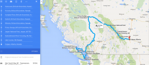 Gesamte Route per Wohnmobil